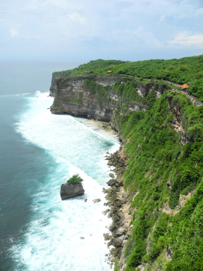 View from the cliffs at Uluwatu